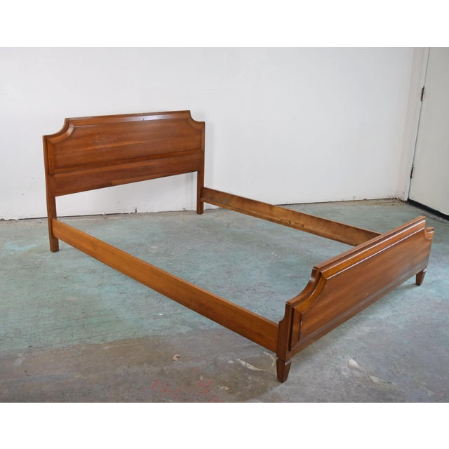 1990s Italian Baroque Inspired Mixed Wood Bedframe Chairish
