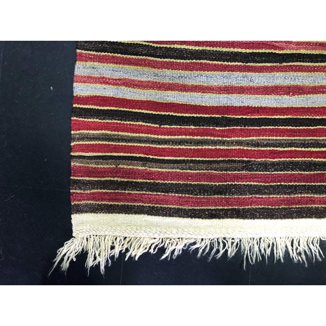 1960s Vintage Handwoven Turkish Kilim Rug - 5′3″ × 10′11″ For Sale - Image 10 of 11