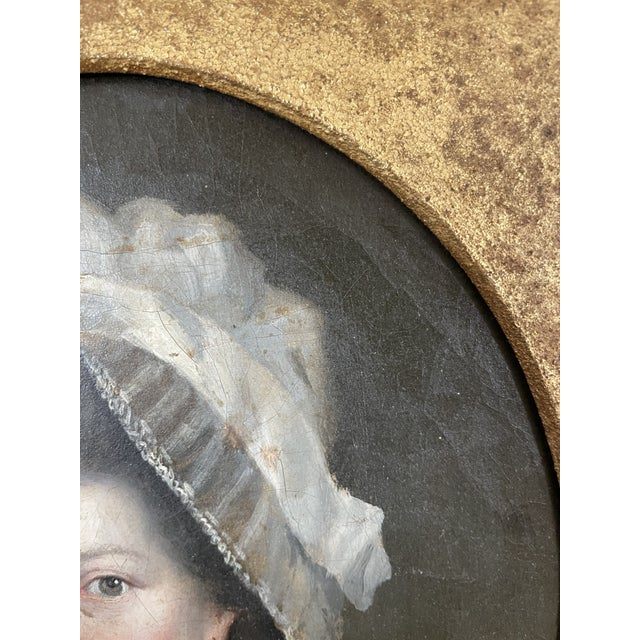 Pink Late 18th Century English Portrait of a Lady Oil Painting Attributed to John Russell, Framed For Sale - Image 8 of 13