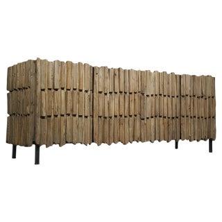 Nadir Global Bazaar Modern Reclaimed Wood Metal Sideboard