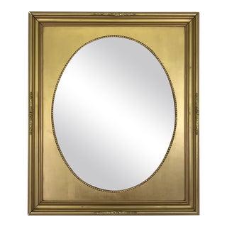 Vintage Gold Oval Portrait Frame For Sale