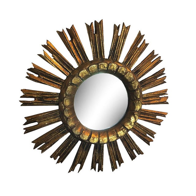 Vintage French Sunburst Mirror For Sale In Dallas - Image 6 of 6