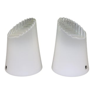 Mid-Century Modern Murano Glass Table Lamps - a Pair For Sale