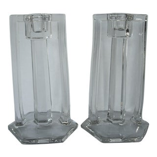 Art Deco Candle Holders - A Pair For Sale