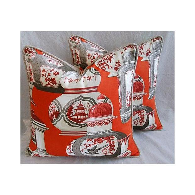 Custom Braemore Chinoiserie Vase Pillows - Pair - Image 2 of 8