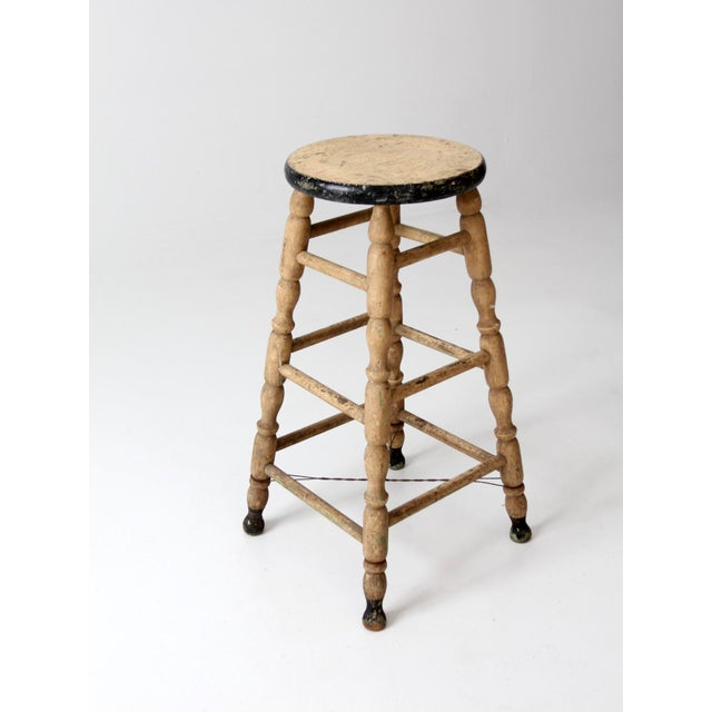 Late 19th Century Antique Turned Leg Stool For Sale - Image 5 of 8