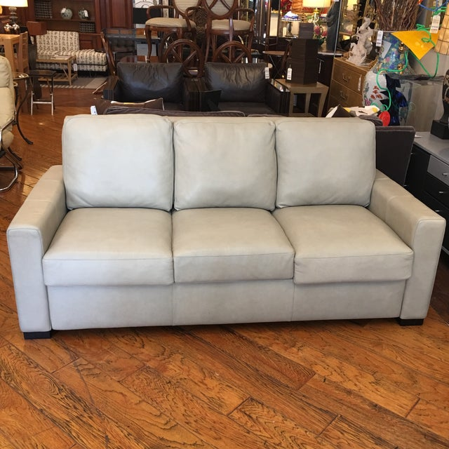 American Leather for Room & Board Convertible Sofa - Image 2 of 10