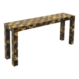 1970s Tessellated Horn Console / Sofa Table by William Piedrahita for Thomas Britt For Sale