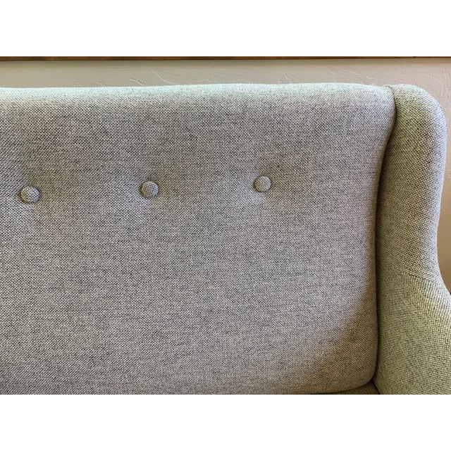 Light Gray 1960s Grey Upholstered Sofa For Sale - Image 8 of 9