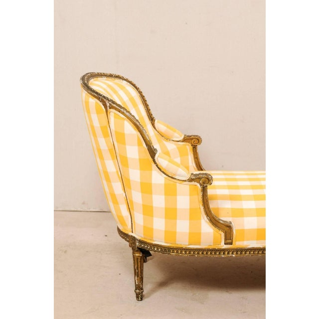 Turn of the Century French Louis XVI Style Chaise For Sale - Image 9 of 11