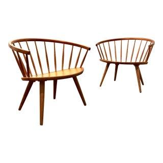 Mid Century Modern Danish Arka Chairs by Yngve Ekström- A Pair For Sale