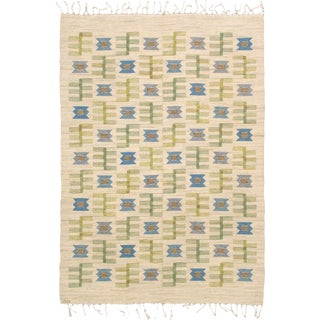 Mid 20th Century Swedish Flat Weave Rug by Barbro Nilsson For Sale