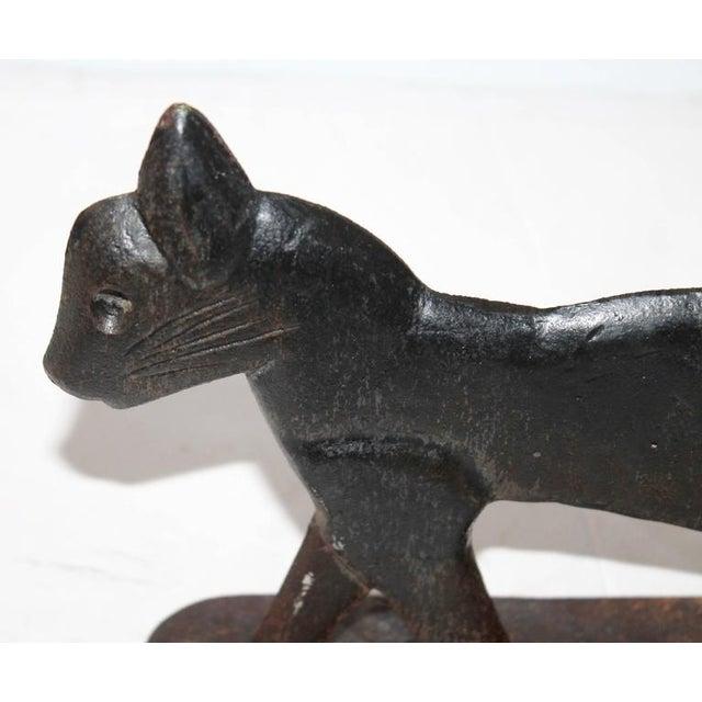 19th Century Cast Iron Cat Boot Scraper - Image 5 of 7