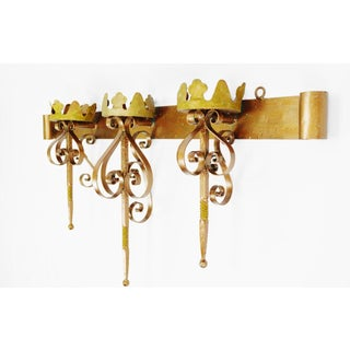 Large Wrought Iron Candle Holder Sconce Preview
