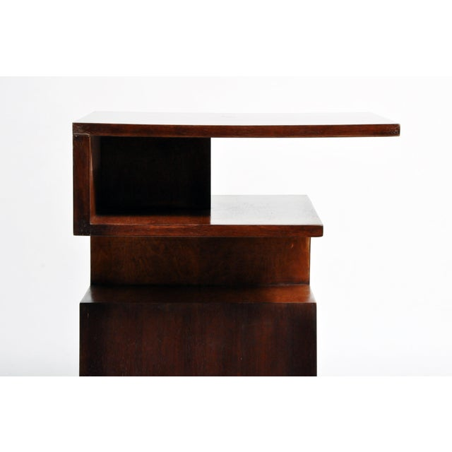 Hungarian Walnut and Maple Veneer Side Table With Shelves For Sale - Image 11 of 13