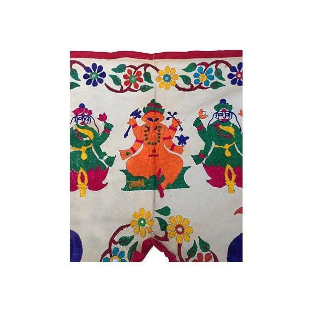 Embroidered Ganesha Window Valance - Image 3 of 7