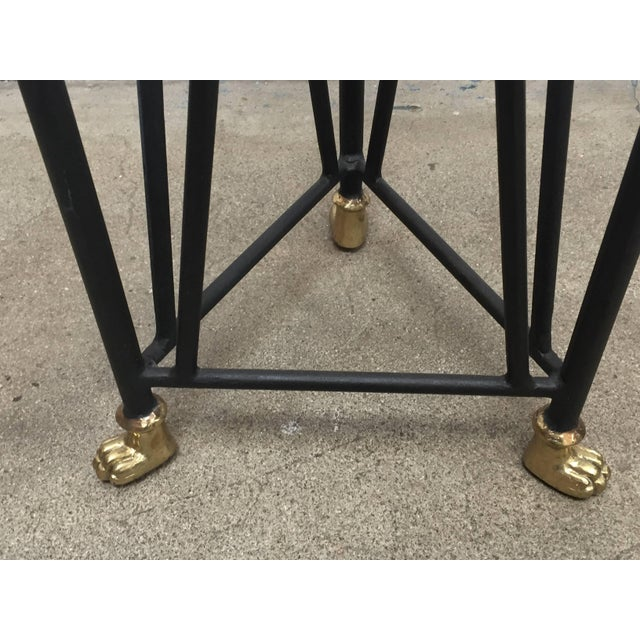 Neoclassical Style Pedestals Iron Stand With Lion Brass Heads & Paw Feet For Sale - Image 11 of 11