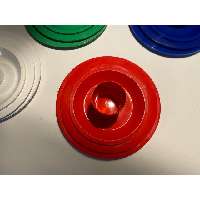 Plastic Vintage Ingrid Plastic Chicago Six Colors Serving Set - 26 Pieces For Sale - Image 7 of 12