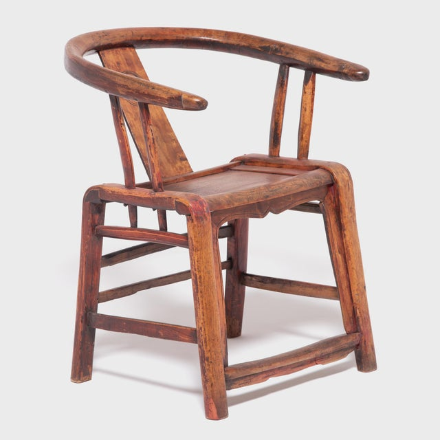 Wood 19th Century Chinese Bentwood Roundback Chair For Sale - Image 7 of 7