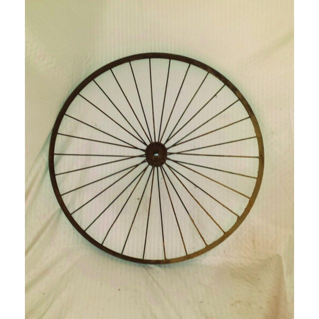 Antique Wire Spoke Bicycle Wheel - Image 2 of 5
