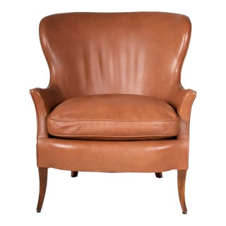 Mid Century Modern Leather Chair For Sale
