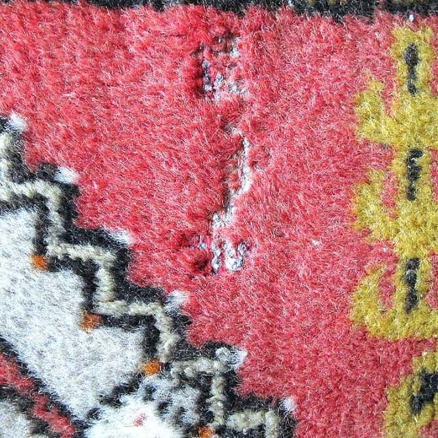 "Pink Vintage Turkish Rug - 1'8"" x 3'2"" - Image 6 of 7"