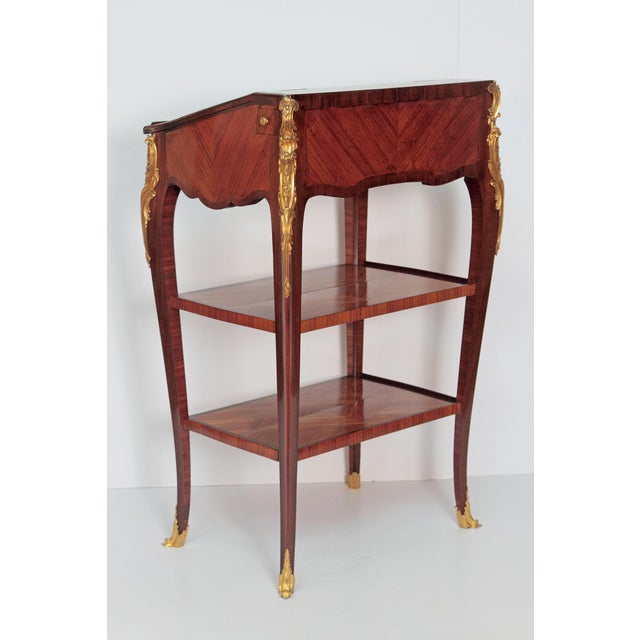 Louis XV Style Small Writing Desk / Table by Alfred Emmanuel Louis Beurdley - Image 2 of 11