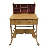Image of Antique Scorched Bamboo Desk For Sale