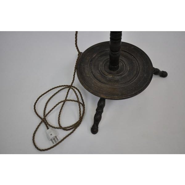 Antique Vintage Wooden Floor Lamp For Sale - Image 9 of 10