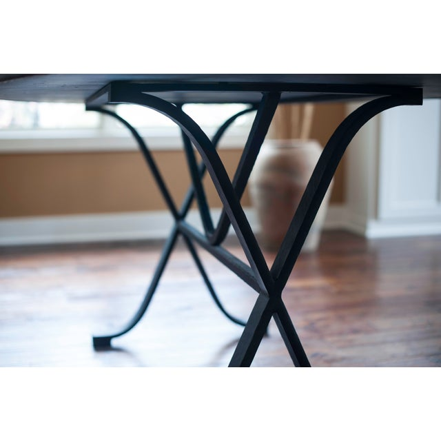 Arhaus Oval Copper Dining Table W/ Cast Iron Legs - Image 4 of 8