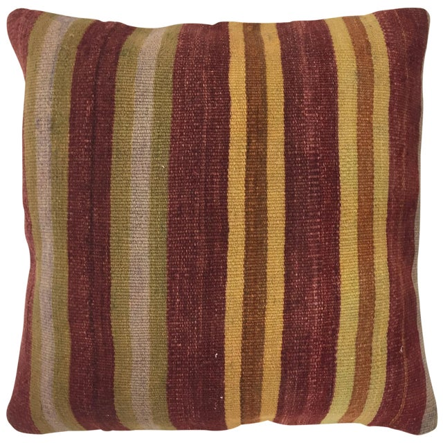 "Vintage Kilim Pillow | 24"" - Image 1 of 2"