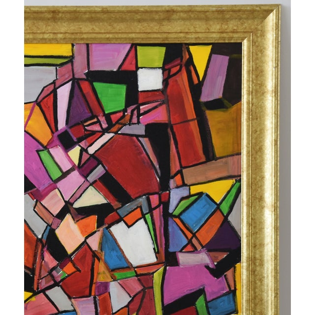 Masonite Juan Guzman Original Colorful Abstract Painting For Sale - Image 7 of 10