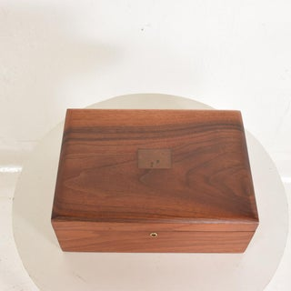 Mid-Century Modern Walnut With Copper Ornamentation Box Preview