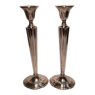 M. Fred Hirsch Sterling Candlesticks - a Pair For Sale