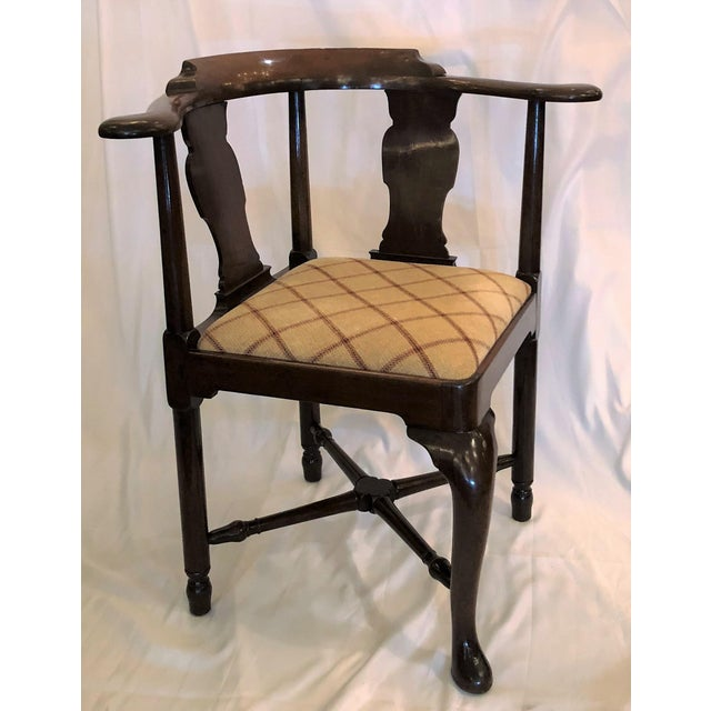 Late 19th Century Antique English 19th Century Mahogany Corner Chair For Sale - Image 5 of 5