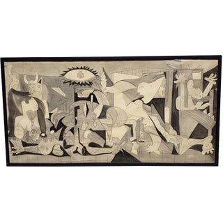 """Large Scale Vintage """"Guernica"""" Original Charcoal and Pencil on Paper C.1960s For Sale"""