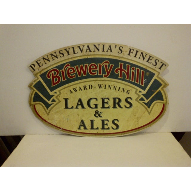 "Vintage ""Brewery Hill"" Metal Advertising Sign - Image 2 of 5"