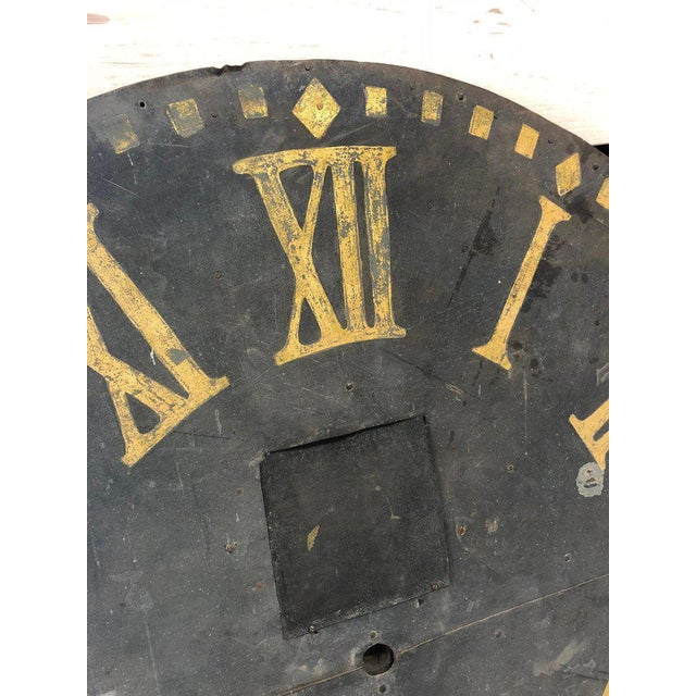 French Large Antique Clock Face For Sale - Image 3 of 7