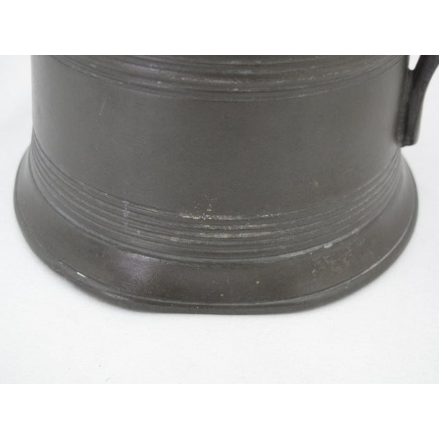 19th Century Victorian One Quart Pewter Tankard For Sale - Image 4 of 7