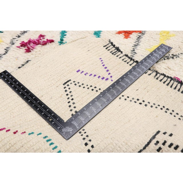 """2010s Contemporary Berber Moroccan Azilal Rug - 6'3"""" X 9'1"""" For Sale - Image 5 of 9"""