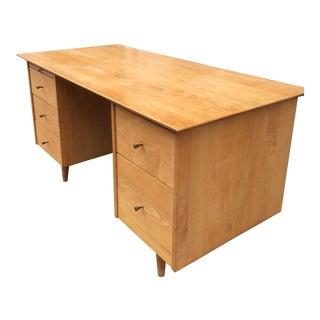 Paul McCobb Double Pedestal Desk For Sale