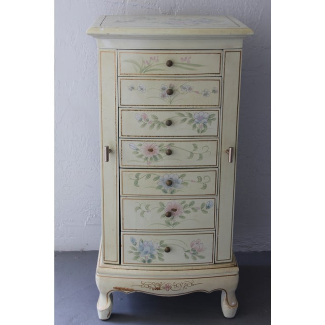1950s Cottage Deluxe Tall Jewelry Chest For Sale - Image 9 of 10