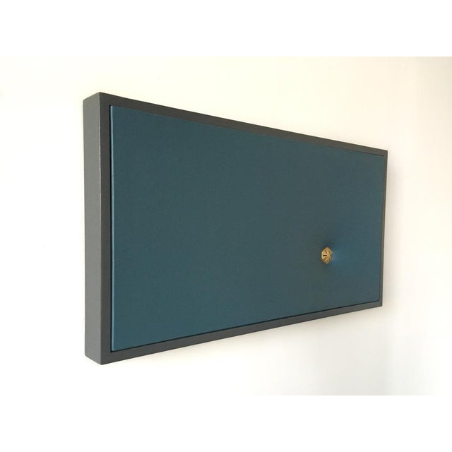 2010s Topher Gent Blue Contemporary Painting Wall Sculpture C. 2019 For Sale - Image 5 of 7