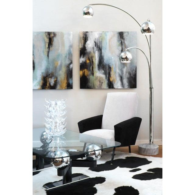 1970s Guzzini Mid-Century Chrome Arc Floor Lamp For Sale - Image 5 of 10