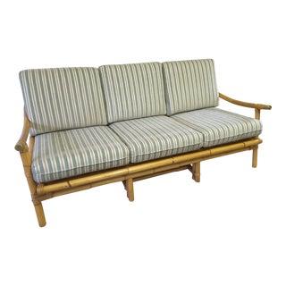 Retro Rattan Sofa