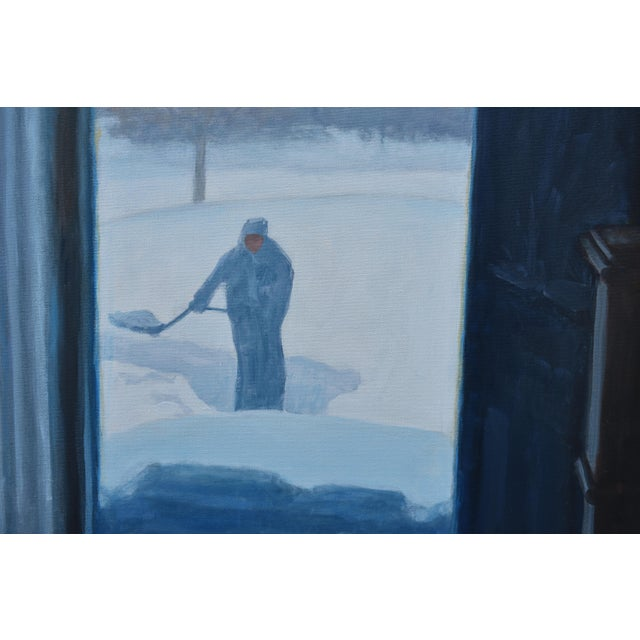 "Stephen Remick Stephen Remick ""Shoveling Out"" Contemporary Painting For Sale - Image 4 of 12"