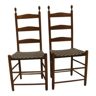 Samuel Timberlake Enfield Ladder Back Chairs - A Pair