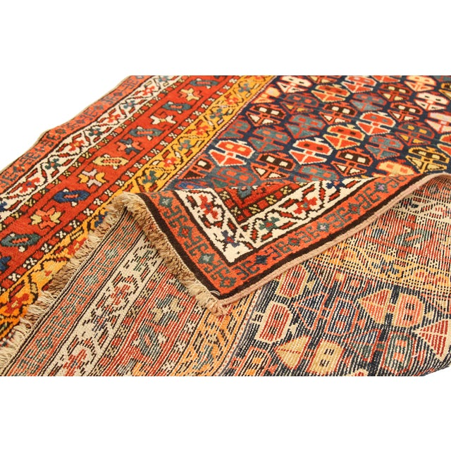 1930s Russian Area Rug Karebagh Design For Sale - Image 4 of 5