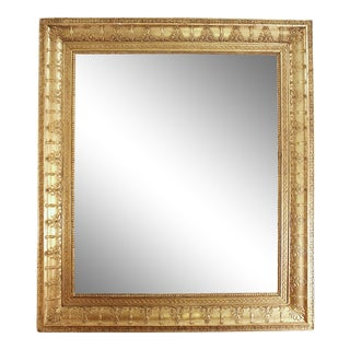 19th Century French Rectangular Gilt Charles X Style Mirror For Sale
