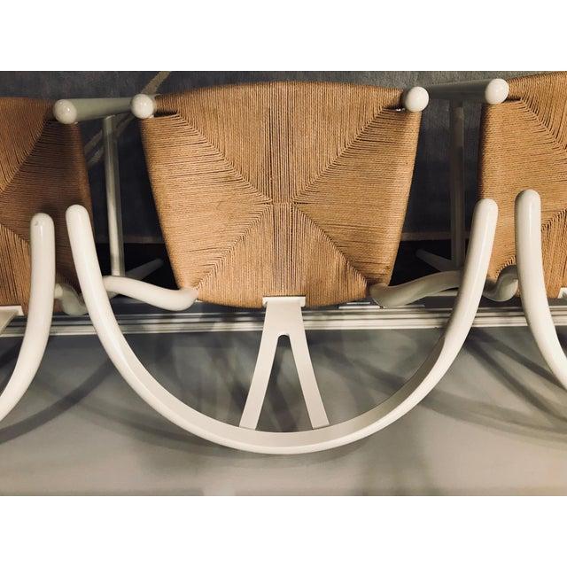 Hans Wegner White Wishbone Chairs - Set of 6 For Sale In New York - Image 6 of 11